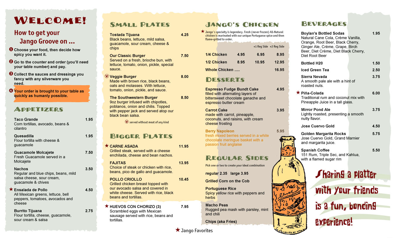 Restaurant Menus Maker  Free Printable Restaurant Menu Template